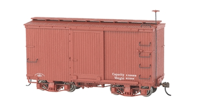 On30 18 ft. Box Car - Oxide Red, Data Only, Bachmann Model Trains Item Number BAC26501
