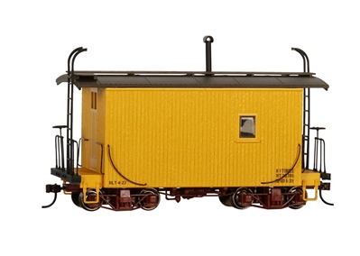 On30 18Logging Caboose Yellow