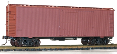 36 Double Sheath Box Car with Metal Ends Kit, Undecorated, Accurail Model Trains Item Number ACU1400