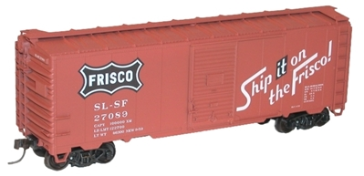 40 Aar Steel Boxcar Frisco HO, Accurail Model Trains Item Number ACU3544