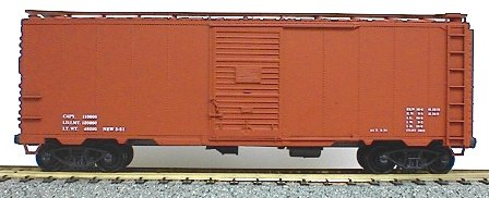 40 Aar Steel Boxcar Oxide HO, Accurail Model Trains Item Number ACU3599