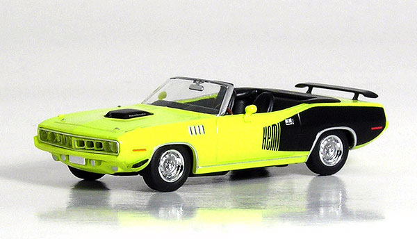 Plymouth HEMI Cuda in Curious Yellow (1:87), RICKO Item Number RICKO38183