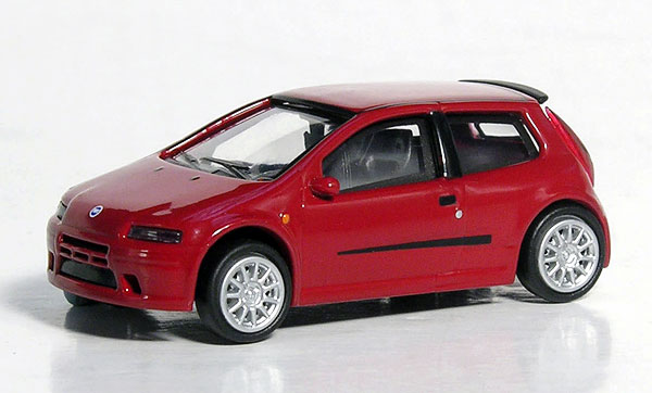 Fiat Punto in Red (1:87), RICKO Item Number RICKO38329