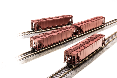 N H32 Covered Hopper, Unlettered, Freight Car Red, 4-pack