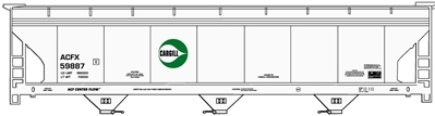 3 Bay Covered Hopper Cargill, Accurail Model Trains Item Number ACU80872