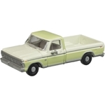 N Scale 1973 Ford F-100 Pickup Wht/G
