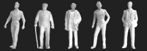 1/4 Male Figures (5 pack)