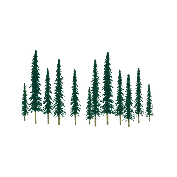 Conifer 6 To 10 O Scale 12pk, JTT Item Number JTT92012