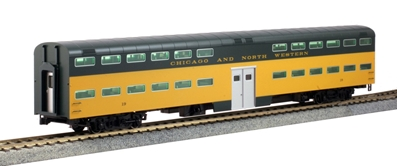 HO Bi-Level Coach C&NW #19 by Kato Precision Railroad Models Item Number: KAT356043