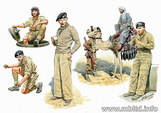 British Troops No Africa 1:32, Master Box Item Number MBL3564