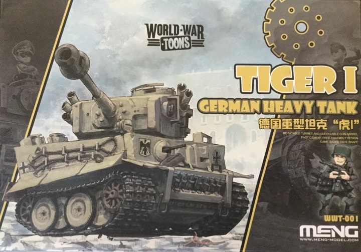 German Hvy Tank Tiger I Toons by Meng Models item number: MGMWWT001