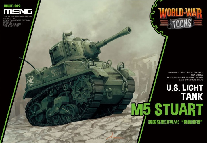 M5 Stuart US Light Tank Toons by Meng Models item number: MGMWWT012