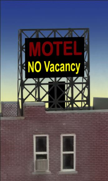 N/Z Motel Rooftop Sign, Miller Engineering Item Number MLR338975