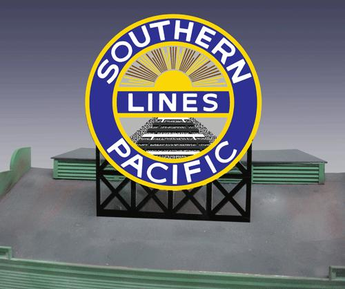 HO/O Large Southern Pacific Lines Billboard  (Animated Neon Style Sign Kit), Miller Engineering Item Number MLR7071