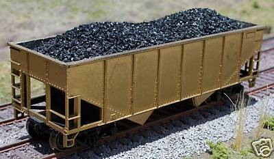 Ho Coal Loads for Athearn 34 2-Bay Hopper (2-Pack), Motrak Models Item Number MOT81200