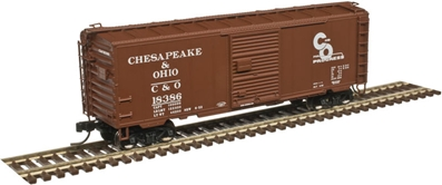 40 PS-1 Box Car C&O Chesapeake & Ohio #18293 by Atlas N Model Trains Item Number: ATL50003966
