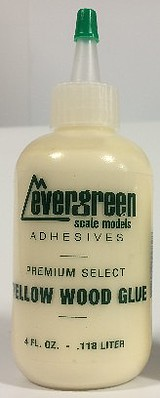 4oz Yellow Wood Glue Refill, Evergreen Models, Item Number EVE845